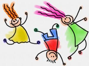 Eejil, Catie et Samantha heureuses de leur expérience (si si, elles ont ces têtes-là) (image libre de droits)