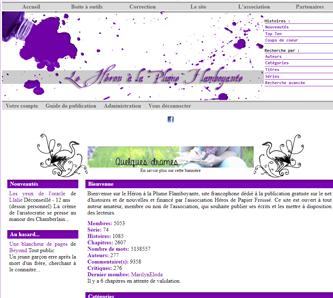 Skin violet Heron