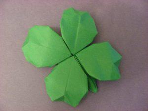 Trèfle en origami